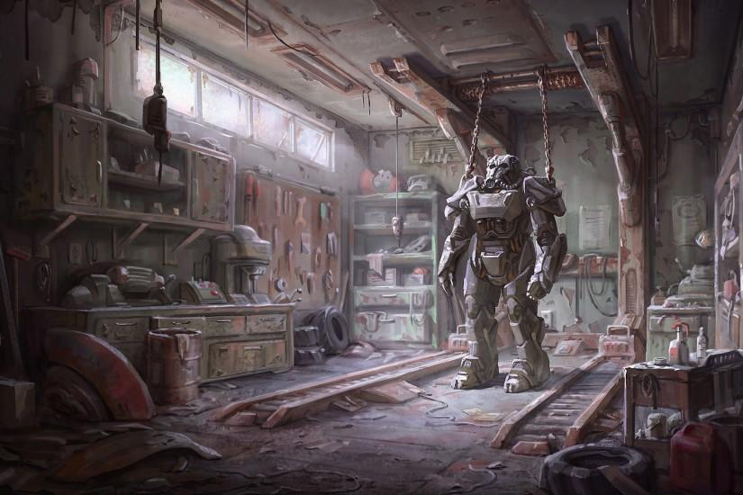 General 1920x1200 Fallout 4 concept art Fallout video games Brotherhood of  Steel armor