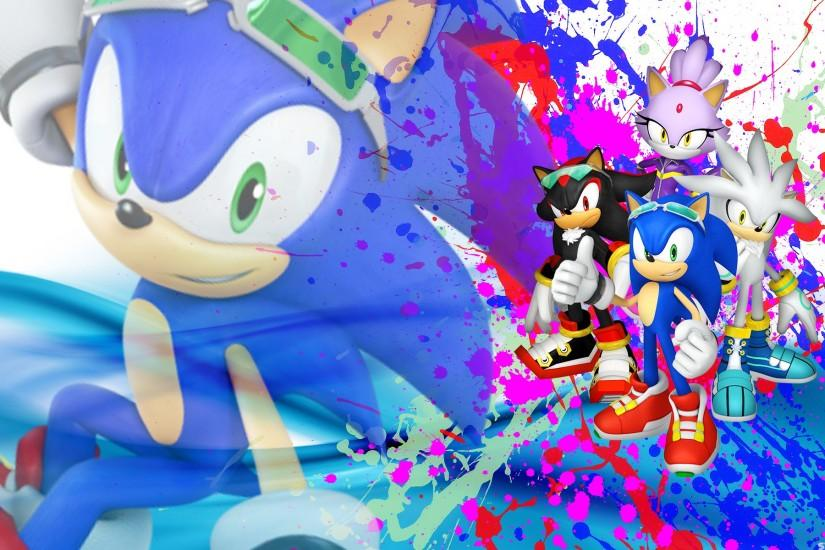 Sonic, Shadow, Silver And Blaze - Wallpaper by SonicTheHedgehogBG