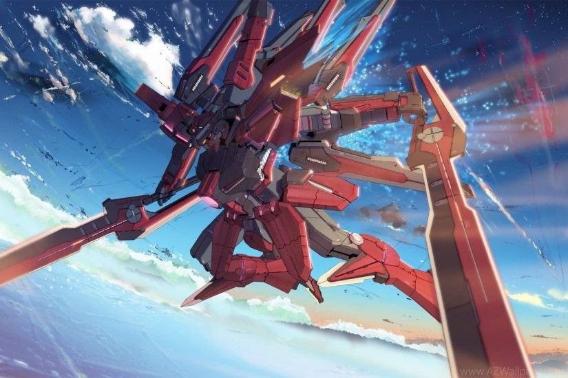 Mecha Gundam Wing Anime Skyscapes Wallpapers
