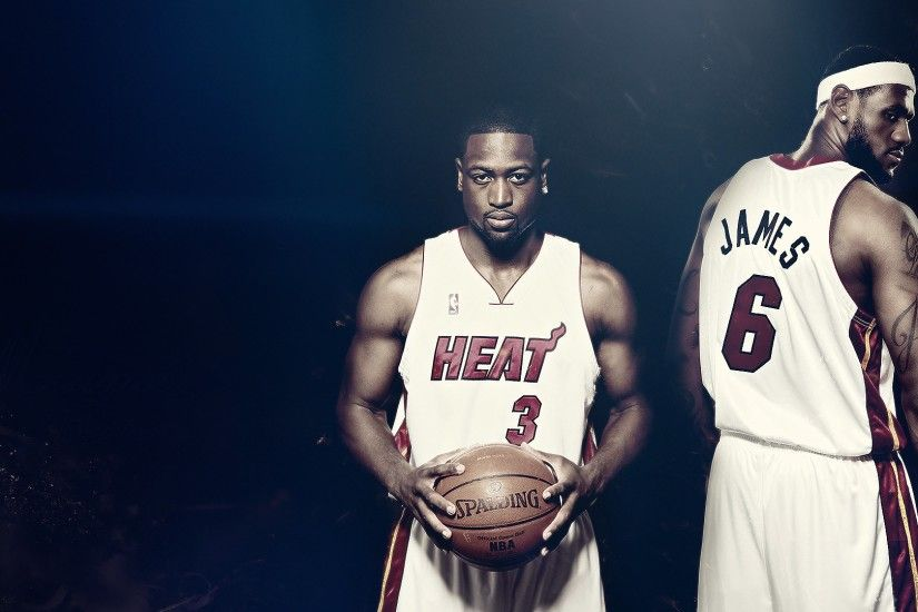 Preview wallpaper lebron james, dwyane wade, basketball, nba, heat,  spalding,