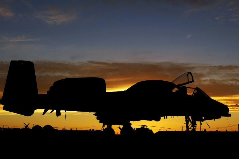 A-10 Thunderbolt II Aircraft Military Sunrise United States Air Force