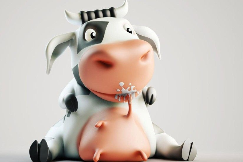Wallpapers For > Funny Cow Wallpaper