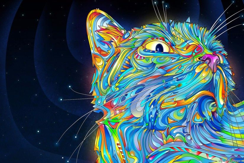 ... Wallpapers 4k Wallpaper Abstract Cool Cat 4K | Free Hd Backgrounds  wallpaper abstract ...