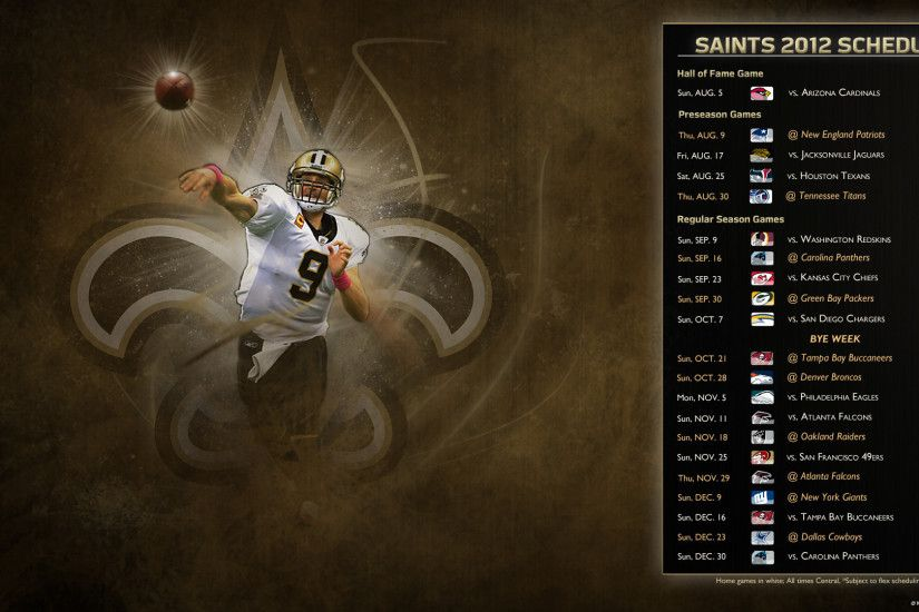 1920x1080 drew brees new orleans saints qb wallpaper - (#85320) - HQ Desktop  .