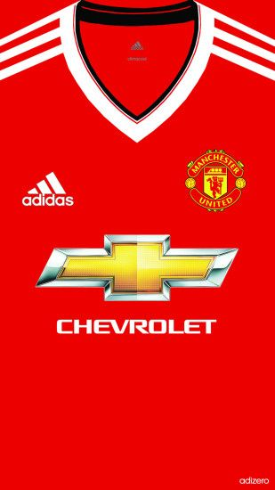 1080x1920 Manchester United Home kit 2015/16 iphone 5 5s 6 wallpaper