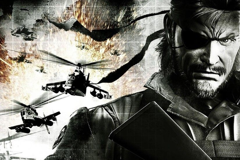 3840x2160 Wallpaper metal gear solid, man, character, helicopters
