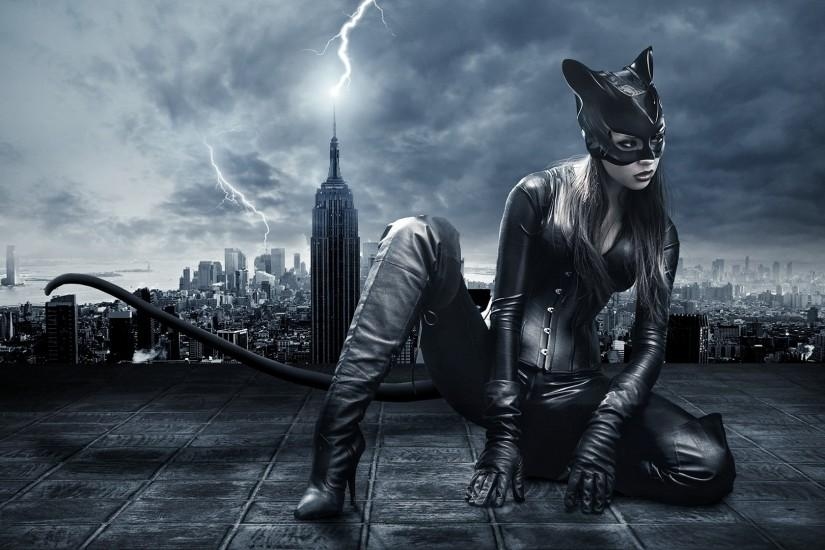 digital Art, Model, Catwoman Wallpaper HD