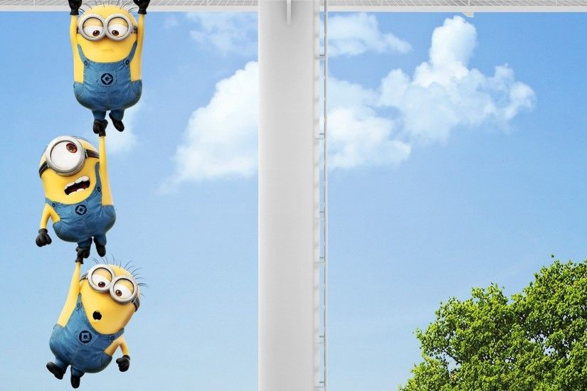 Funny Minions Wallpaper for Desktop - WallpaperSafari Funny minion desktop  background cartoon ...
