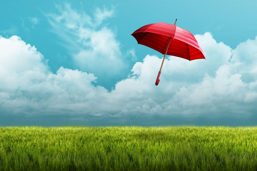 Red Umbrella Wallpaper 8259