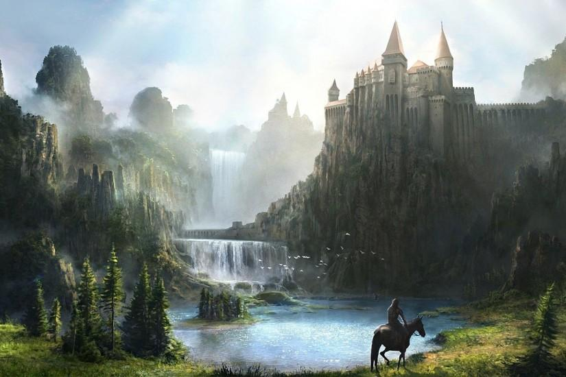 Fantasy Mountain Castles Wallpaper 2014 HD | I HD Images