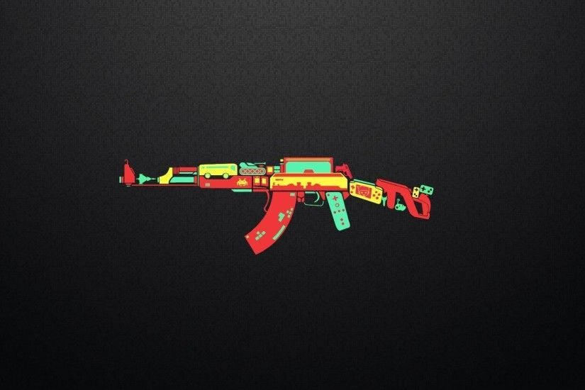 AK-47 controller game weapon funny humor wallpaper | 1920x1080 .