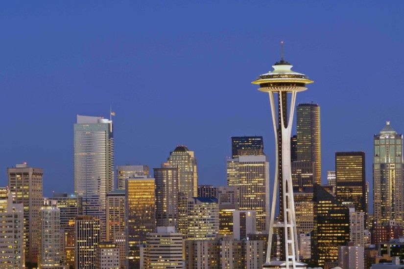 seattle washington | Seattle Skyline Twilight , Seattle, Washington photos,  wallpapers