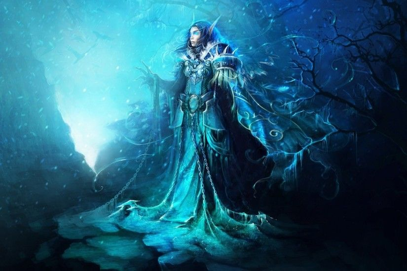 Fantasy - Elf Demon Magician Witch Dark Gothic Alien Snow Winter Wallpaper