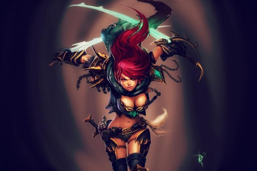 katarina girl league of legends hd wallpaper lol champion image .