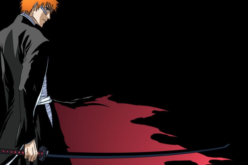 Anime 2133x1200 anime Bleach Kurosaki Ichigo bankai black background anime  boys
