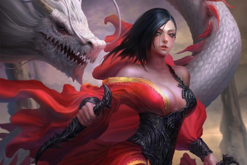 Fantasy Women Dragon Art #1029 Wallpapers and Free Stock Photos | Visual  Cocaine
