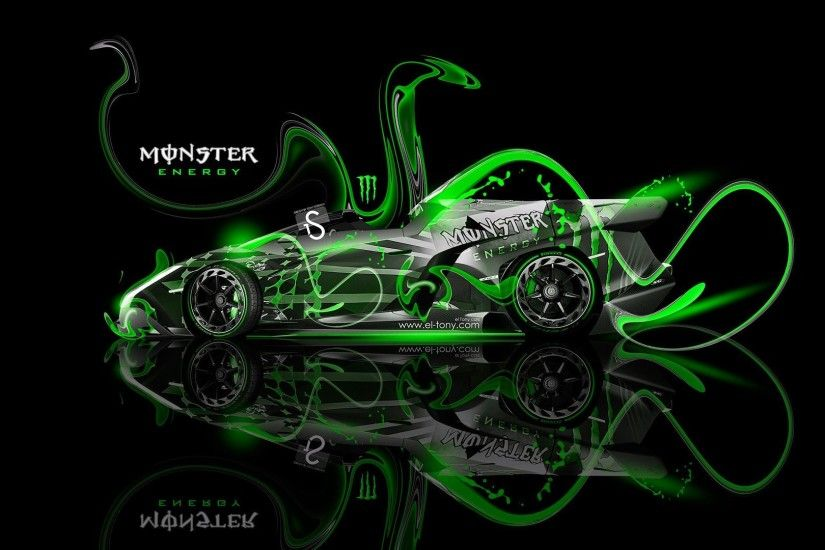 monster energy lamborghini veneno roadster fantasy green neon plastic tony  kokhan el tony cars photoshop lamborghini