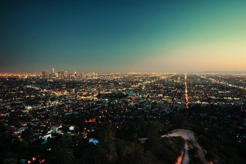 Los Angeles City At Night