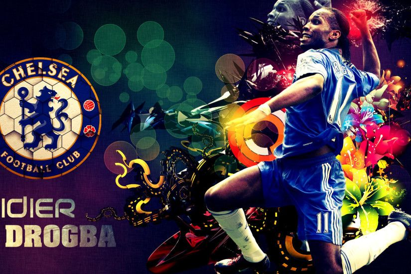 1920x1080 Wallpaper didier drogba, football, chelsea, logo