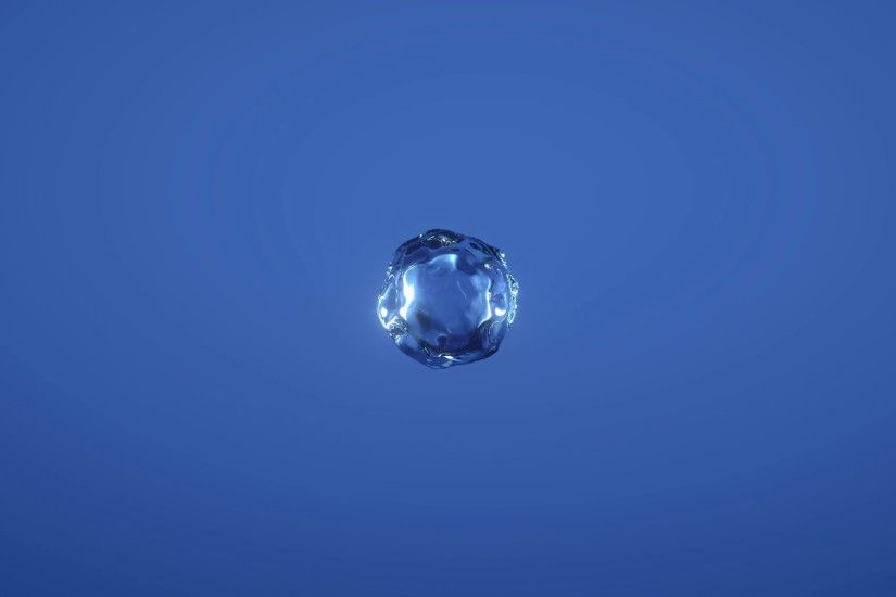 Water drop explosion on blue background (slow motion, with alpha matte,  full hd) Motion Background - VideoBlocks