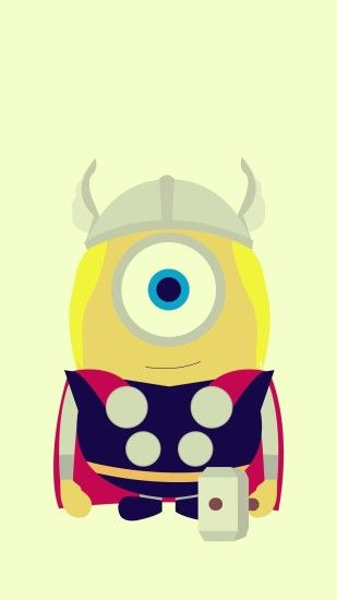 Funny Thor Minion Avengers iphone 6 plus wallpaper HD - 2014 Halloween, Despicable  Me #