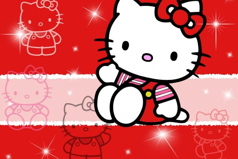 2560x1920 Hello Kitty Pink And Black Love Wallpaper Desktop #1hSCs