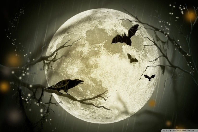 Halloween Moon HD Wide Wallpaper for Widescreen