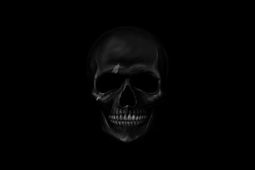 Preview wallpaper skull, art, teeth, bones 1920x1080