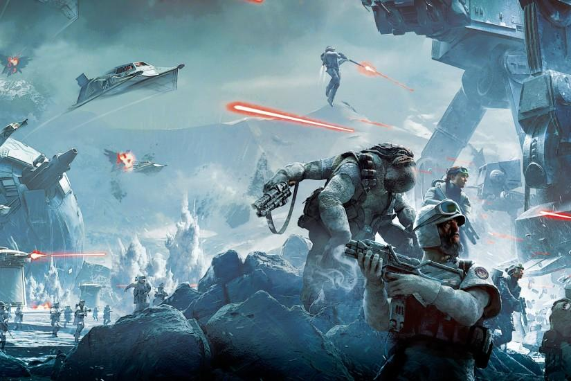 General 3840x2160 Star Wars video games battle Hoth soldier Star Wars:  Battlefront