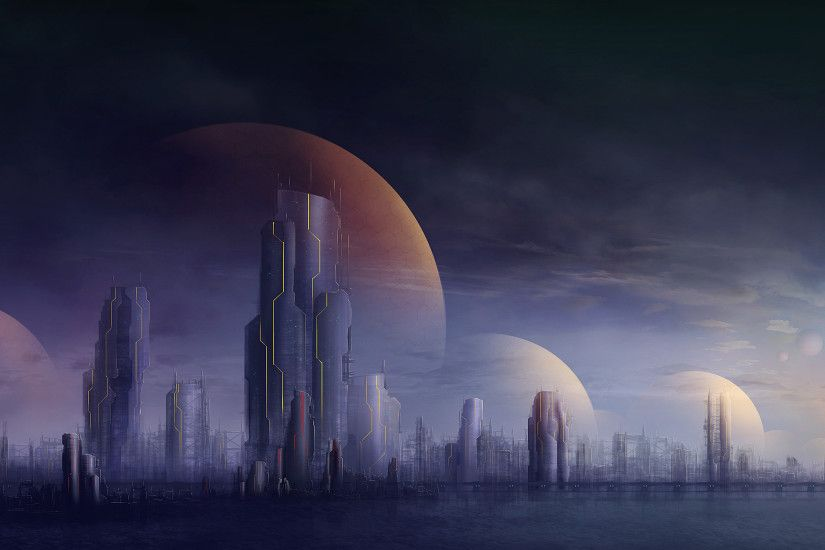 Cities futuristic buildings skyscrapers wallpaper | 2560x1600 | 46100 |  WallpaperUP
