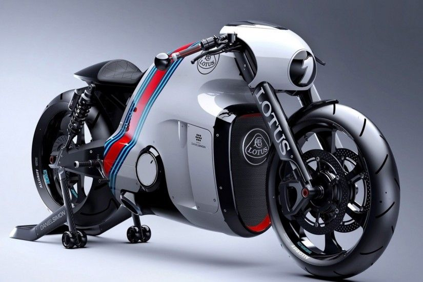 Preview wallpaper motorcycle, lotus, gt, side view 3840x2160