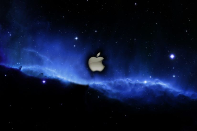 Apple 3D Logo Nebula Wallpaper.