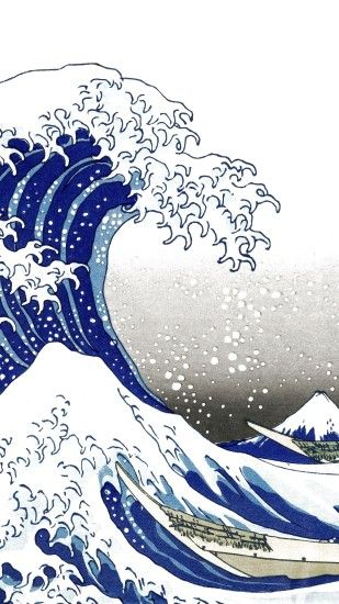 Artistic The Great Wave Off Kanagawa Wave Japanese. Wallpaper 697216