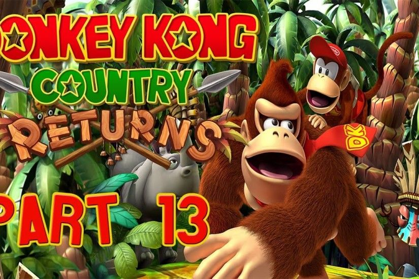 Let's play Donkey Kong Country Returns German - part 13: Fliegende Affen in  den Minen