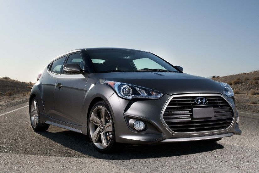 Car Hyundai Veloster on the highway