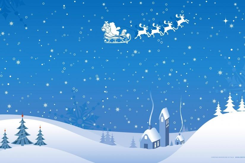 Blue White Christmas Winter Vector Wallpaper ...