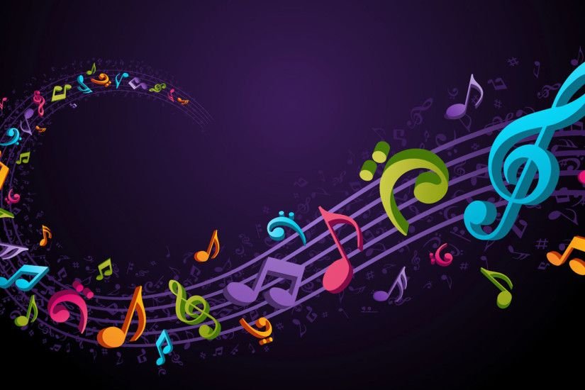 hd pics photos music abstract flying music notes colorful desktop  background wallpaper