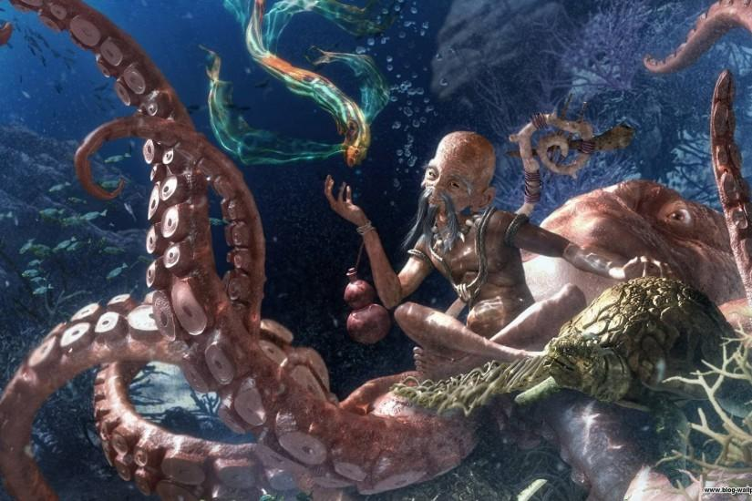 Octopus Wallpaper 395214