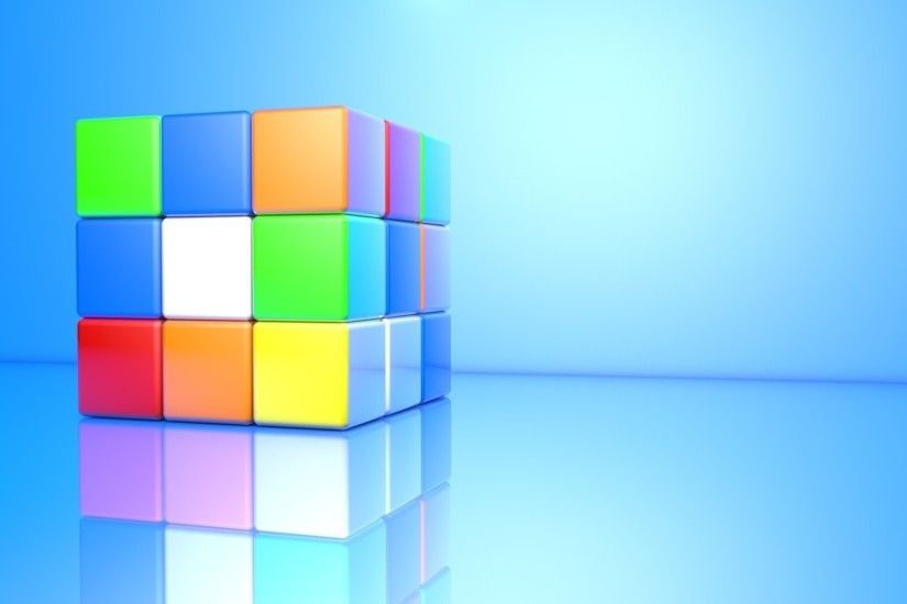 3d rubiks cube wallpaper