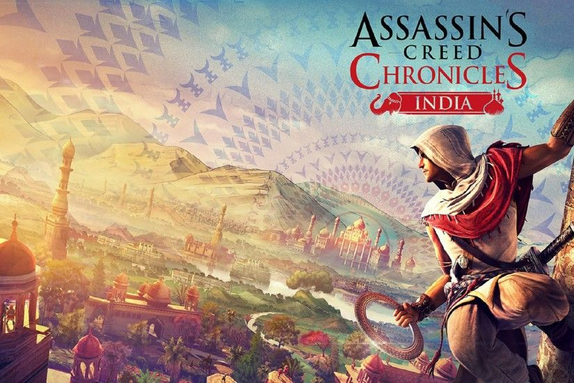 Assassins Creed Chronicles India Game Logo Wallpaper