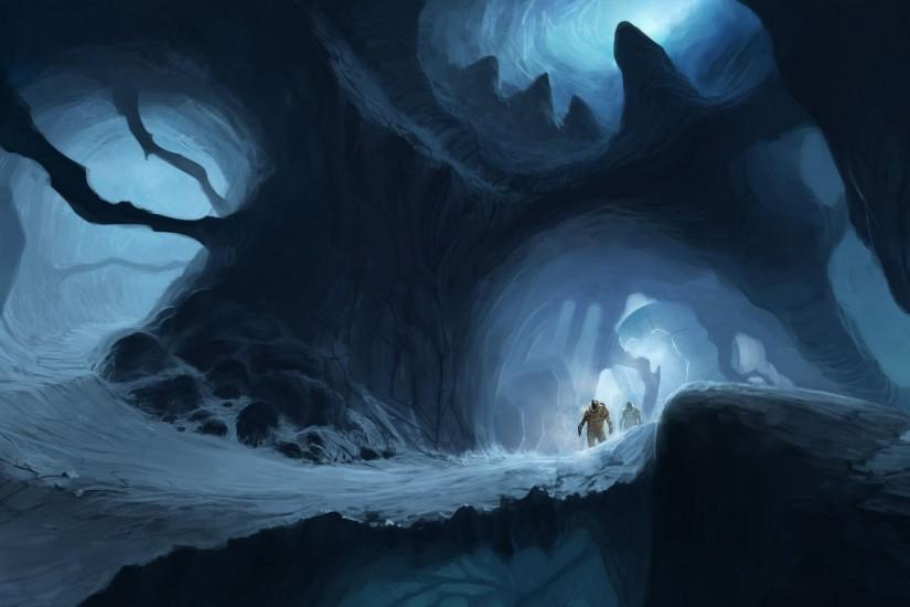 Astronauts in the icy cave wallpaper - Fantasy wallpapers - #28670