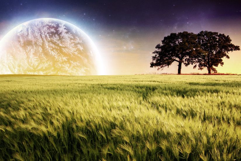 Planet Farm Trees Landscape