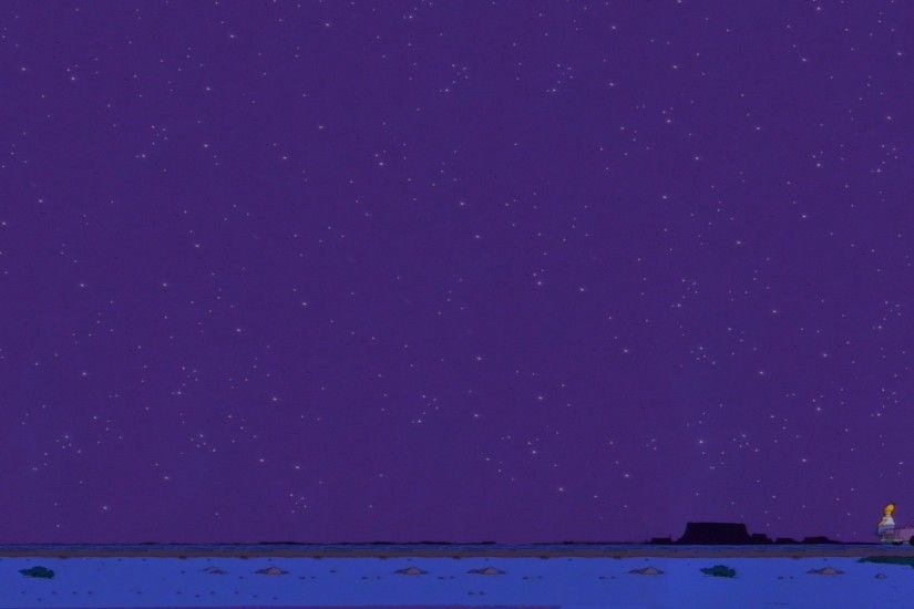 The Simpsons, Night sky, Stars Wallpaper HD