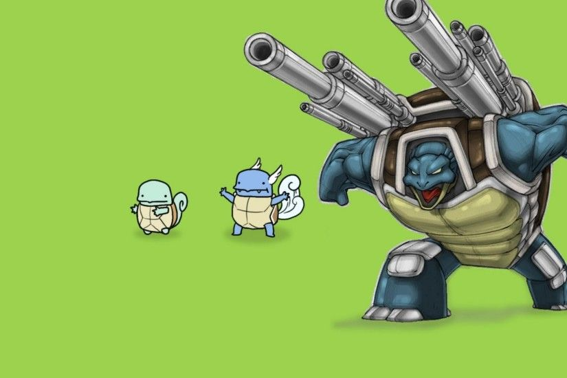 Pokemon Funny Free Tiny Squirtle To Boss Blastoise Hd Wallpaper with .