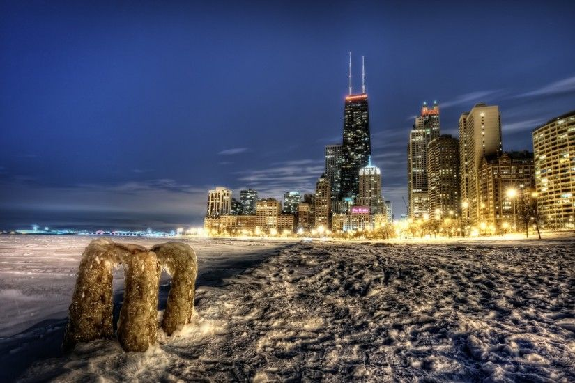Images of Chicago In Winter Widescreen Wallpaper - #SC Chicago Wallpaper -  Wallpapers Browse ...