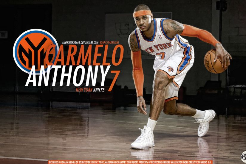 Carmelo Anthony Knicks Wall by IshaanMishra Carmelo Anthony Knicks Wall by  IshaanMishra
