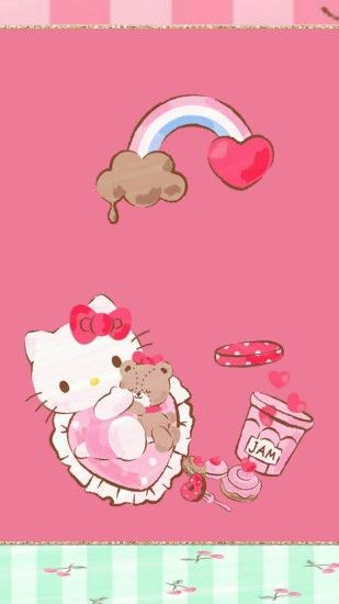 iPhone Wall: Valentine's Day tjn Hello Kitty Pictures, My Melody, Cute  Wallpapers,