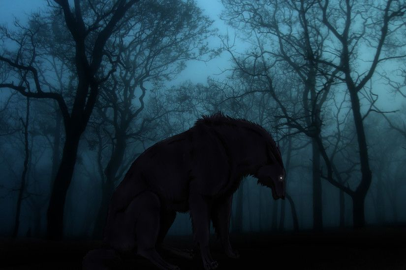 Gallery of Dark Forest Wolf Wallpaper