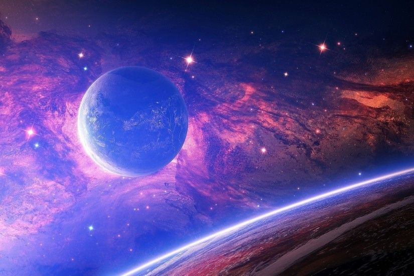space, Space Art, Planet, Stars, Glowing, Digital Art Wallpapers HD /  Desktop and Mobile Backgrounds
