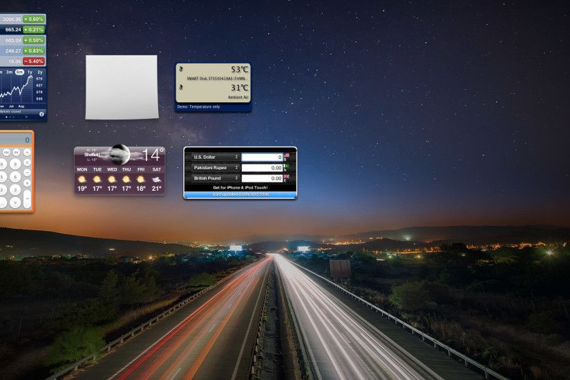 dashboard background mac